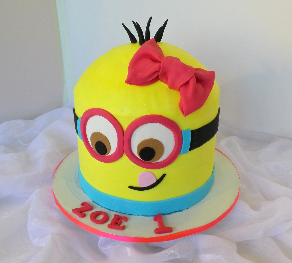 Girls 1st Minion Birthday Cake Design Was Brought In By Cl Flickr