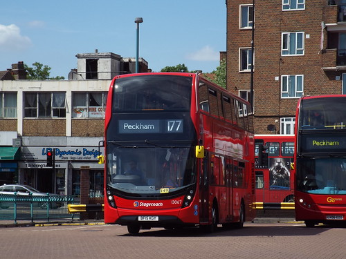 Stagecoach Selkent 13067, BF15KGY in Peckham on route 177