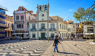 Cascais bells and optical illusion pavement | by Tigra K