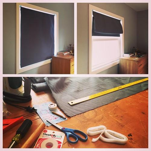 Scratch-making some quasi-Roman window blinds.