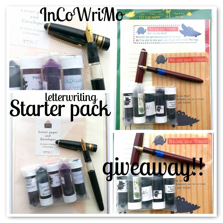 Incowrimo starter packs giveaway