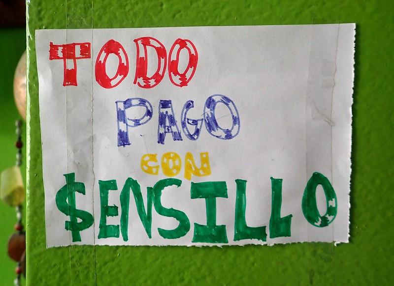 Allí dónde vayas, en Perú nadie parece tener cambio. Una pesadilla. (Sencillo = cambio, monedas)