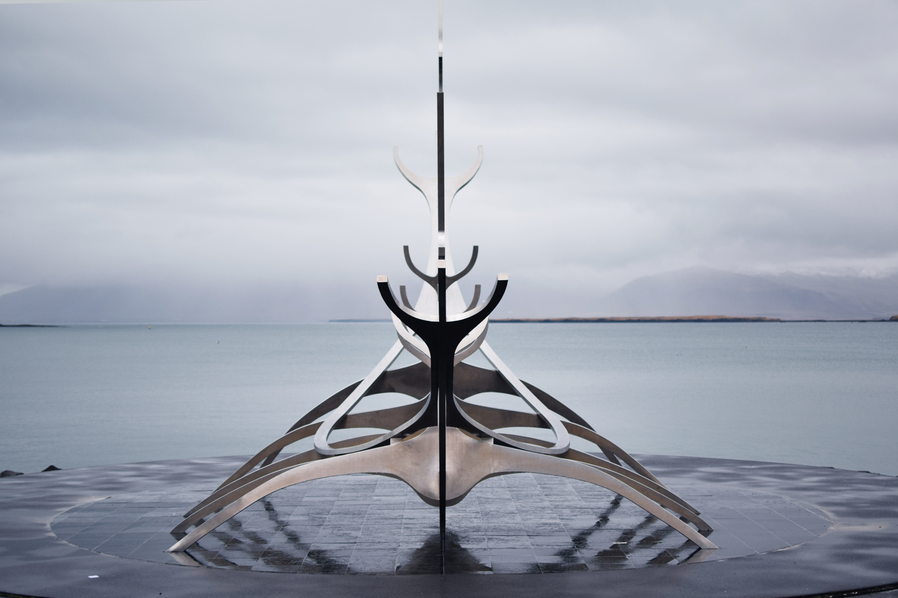 Sun Craft Sculpture in Reykjavic