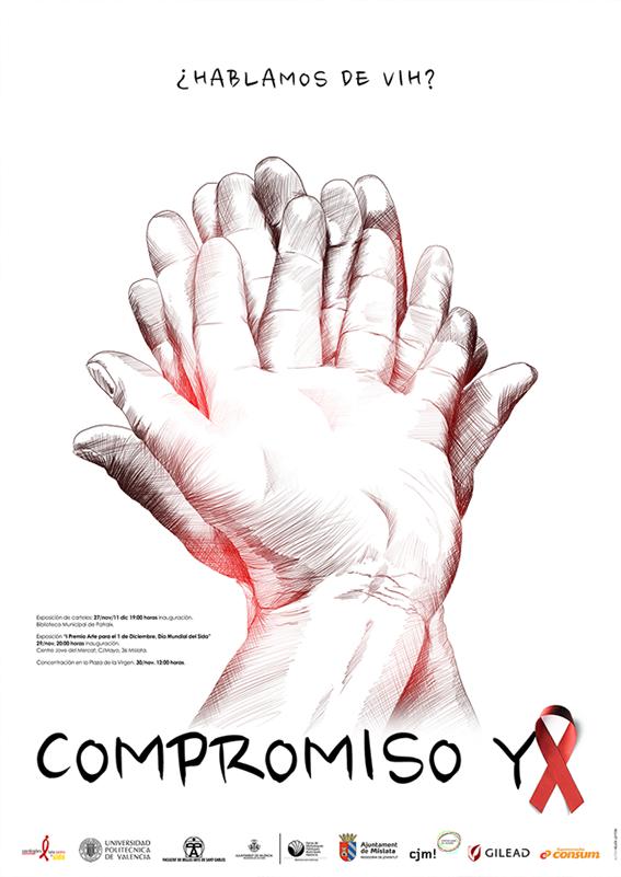 Cartel ganador del Concurso que se desarrolla en la Facultad de Bellas Artes de la UPV para la conmemoriación del 1 de Diciembre de 2013