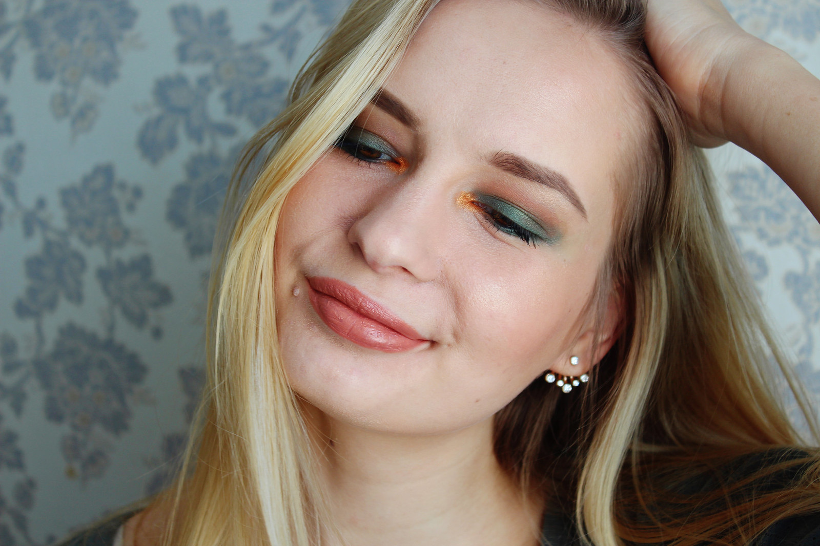 Green makeup look with a twist