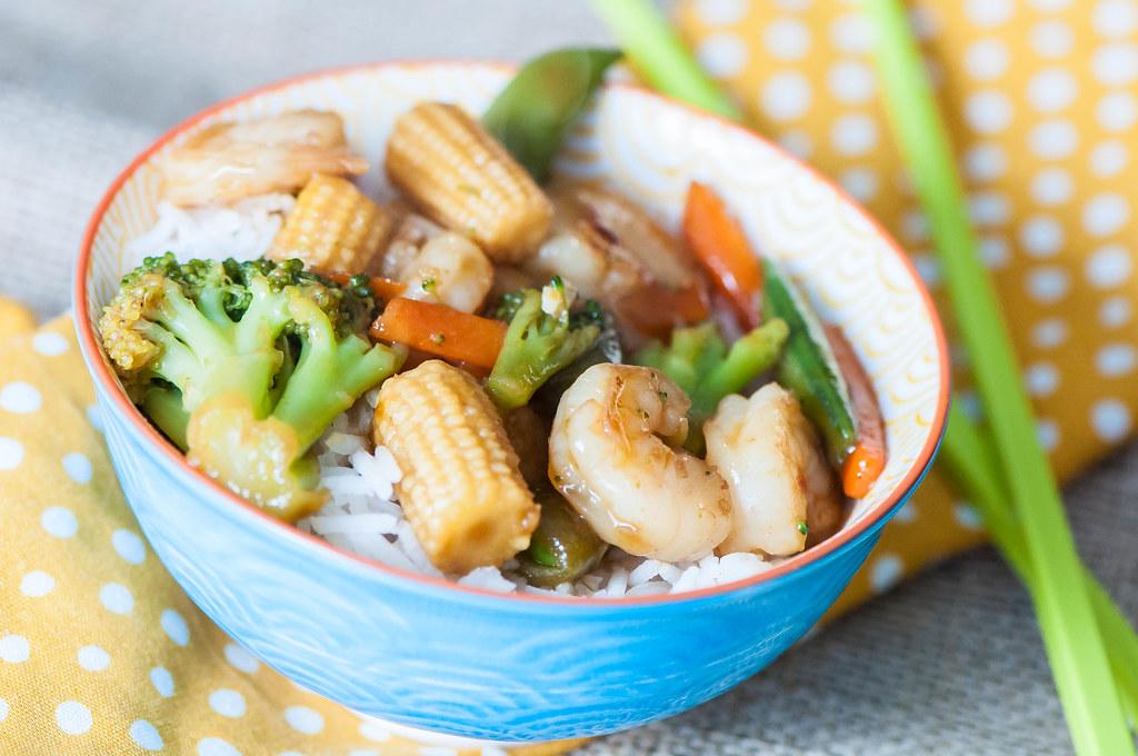 Simple Shrimp Stir Fry 2