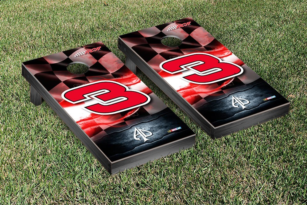 AUSTIN DILLON #3 CORNHOLE GAME SET RED RACING FLAG VERSION