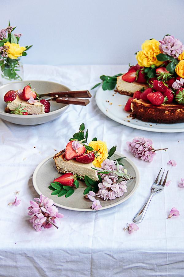 Gluten & Sugar - Free Healthy Orange Cheesecake