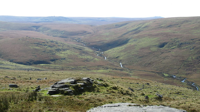 West Okement and Lints Tor from Fordsland Ledge