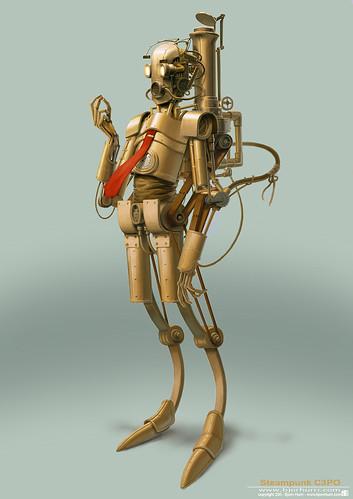 Steampunk Star Wars by Bjorn Hurri - C-3PO
