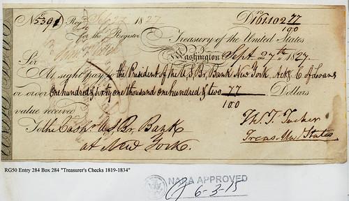 cut-cancelled treasury checks NARA #18270927