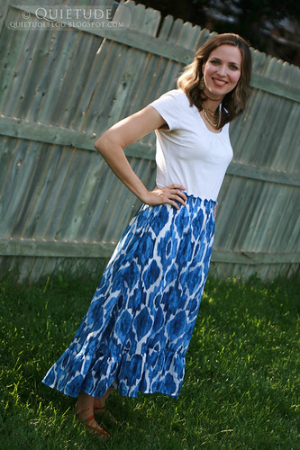 blue ikat skirt