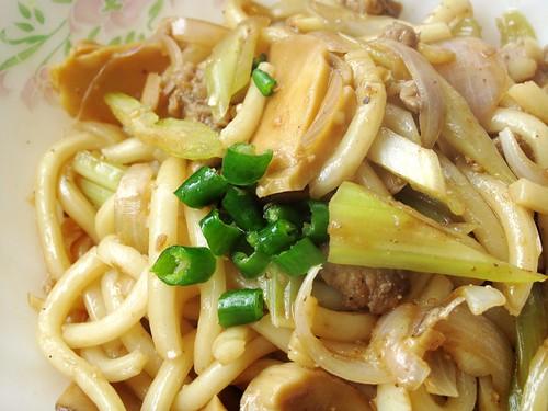 033 焖煮杏鲍菇肉碎乌冬面- udon