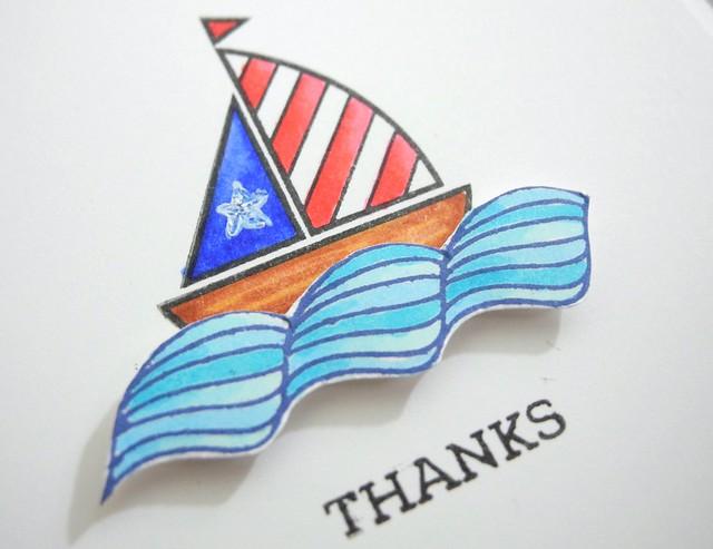 Thanks by Jennifer Ingle #JustJingle #SimonSaysStamp #cards #patriotic