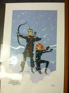 Hawkeye and Black Widow (print) by Marc Thomas