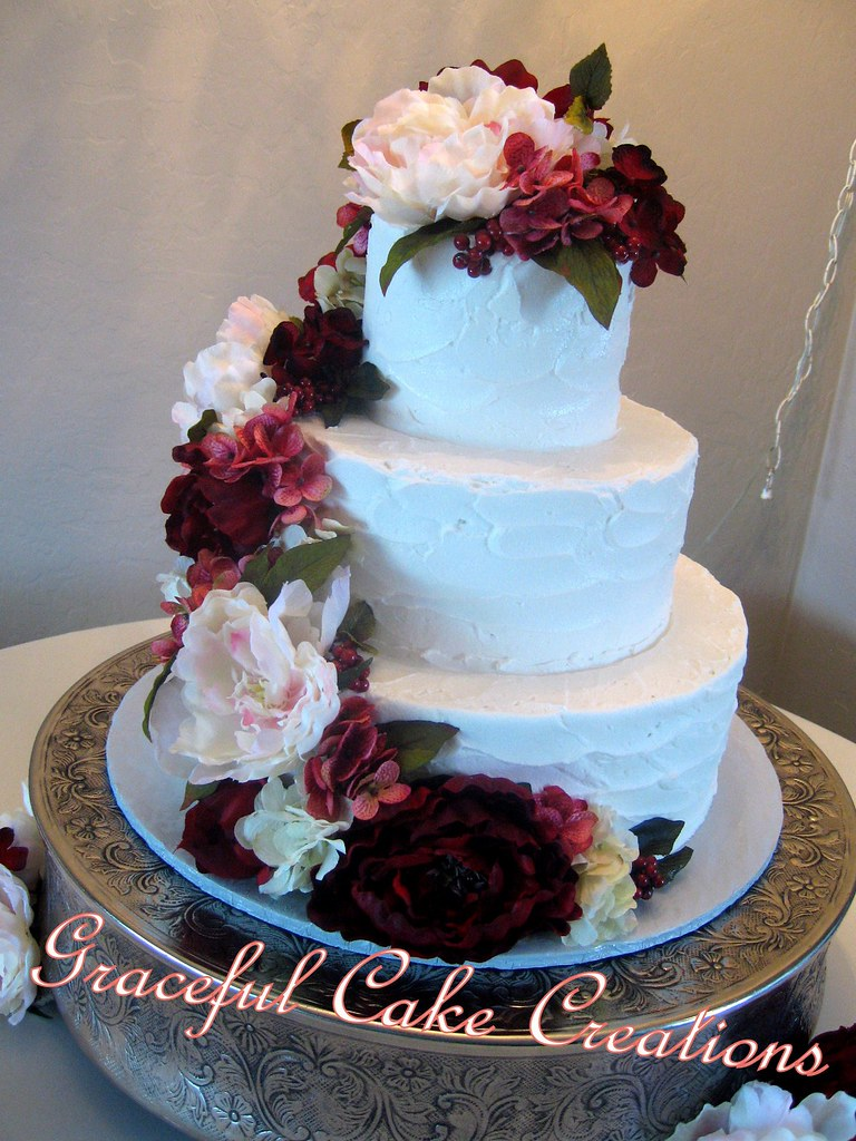 burgundy and navy wedding cake textured butter wedding cake accented with b 12230