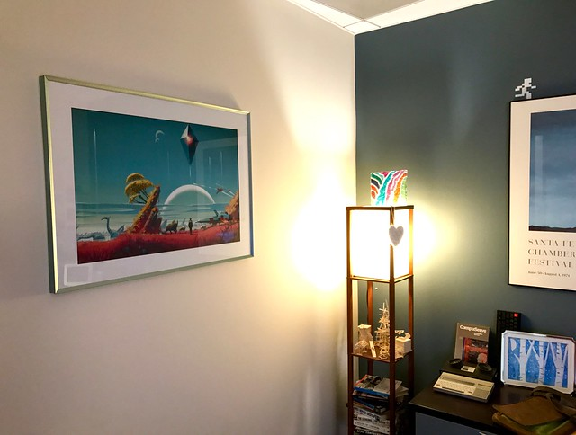 Finally Got My No Mans Sky 30x20 Inch Framed Print On The Office