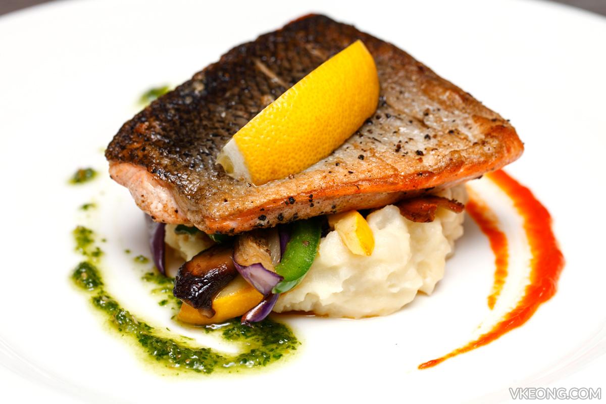 Breeze Bistro Bar Pan Fried Salmon