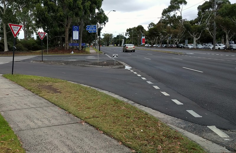 Pedestrian crossing on Ferntree Gully Road
