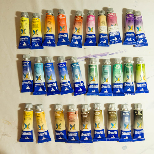 watercolour paint selection from MaimeriBlu