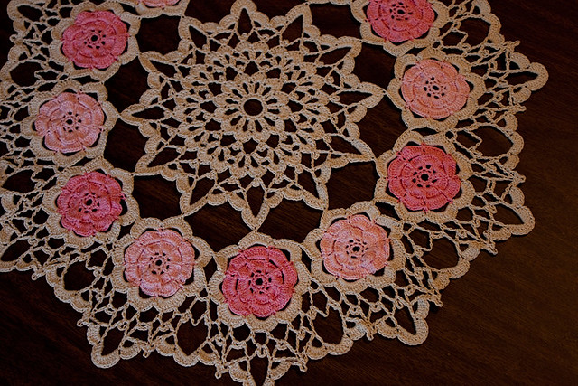Vintage Roses Doily