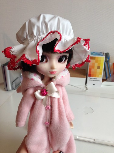 Chun Li's buns make a cute hat for my dolls XD