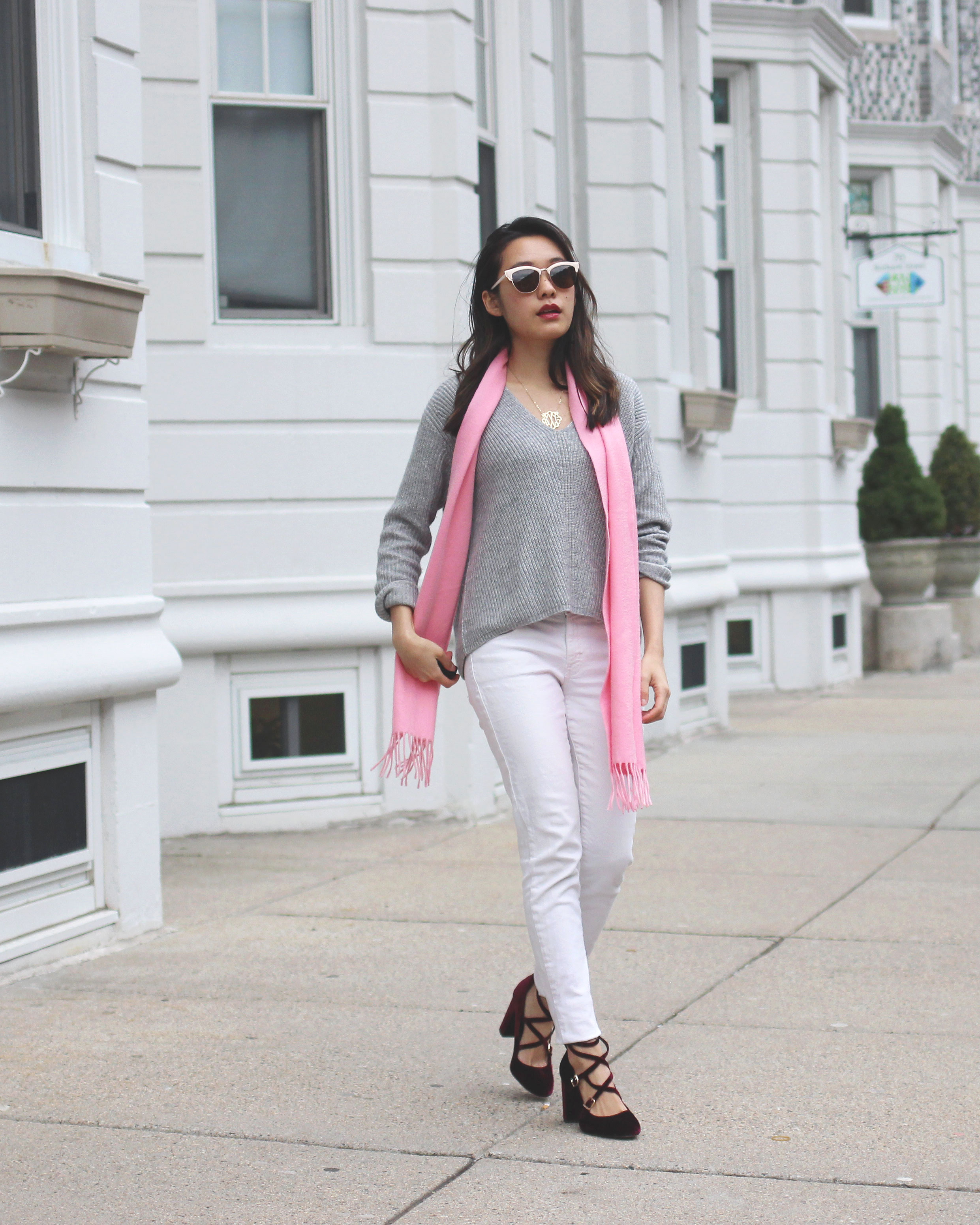 Casual girls' brunch Valentine's Day outfit