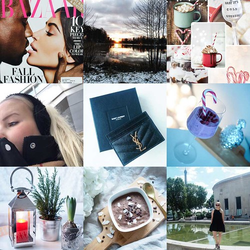BestNineInstagramAlaAnnn2016, best nne pictures of instagram, best nine, instagram, pictures, photos, images, kuvat, parhaat yhdeksän kuvaa, blogi, blog, valokuvaus, photography, photograph, kim and kanye, sunset, bazaar cover, november sunset, candy cane cocoa, ysl card case, yves saint laurent card holder, christmas berry smoothie, candle lantern, homemade healthy chocolate ice cream, sizzle heat hot day summer outfit, paris, pariisi,
