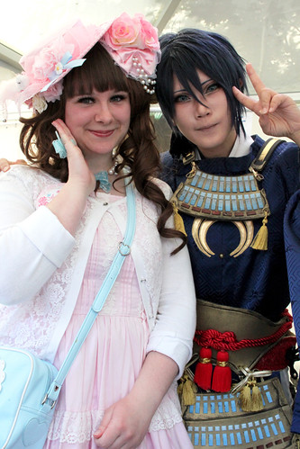 Posing for Pictures with Reika
