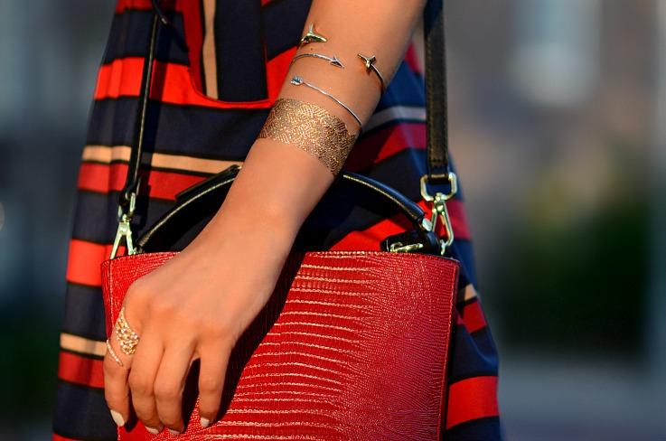 DSC_6040 Tamara Chloé, Myca Couture, Flash tattoo, Red Zara bag