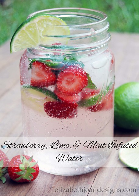 Strawberry, Lime, & Mint Infused Water