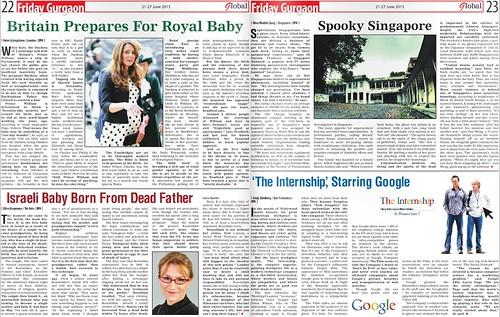 Indian newspaper calls me a national celebrity.