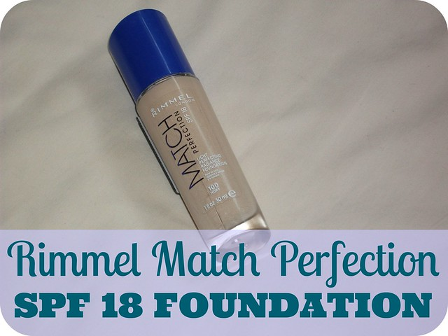 Rimmel Match Perfection SPF 18 Foundation