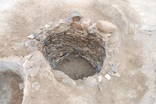大蔵中町遺跡の瓦積み井戸01