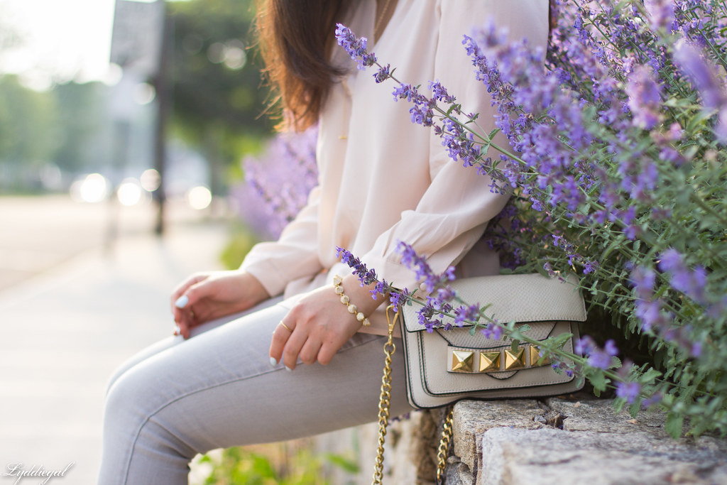 blush silk blouse, grey denim, studded bag-8.jpg