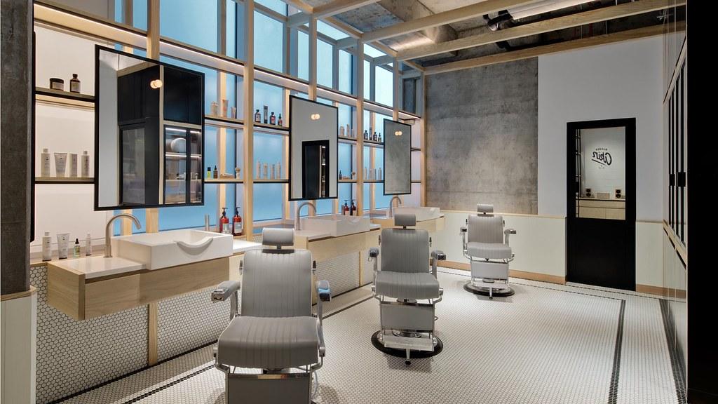 Diseños modestos en espacios de lujo: Barbería