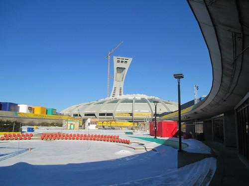 Stade Olympique/Olympic Stadium (1) #montreal #montréal #stadeolympique #olympicstadium #architecture #hochelagamaisonneuve #latergram