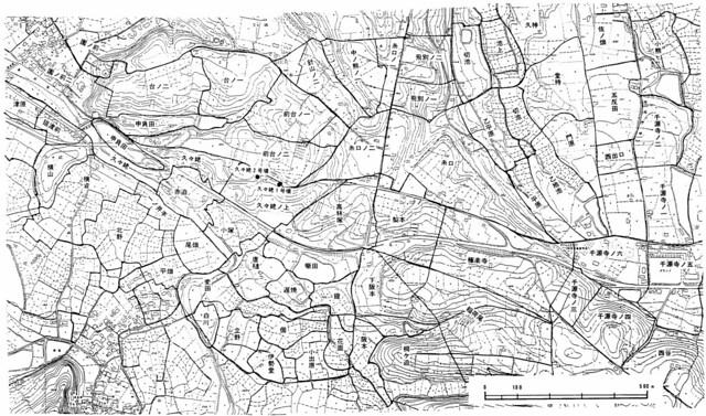 糸口山周辺字図