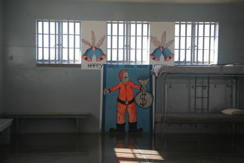 Inside group cell, Robben Island