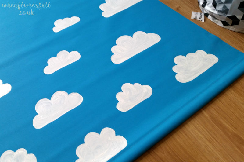 lifestyle, diy, do it yourself, roller blind, clouds, cloud, blind, whenflowersfall, blogger