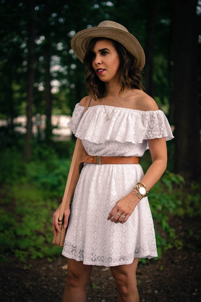 aviza style. a viza style. andrea viza. fashion blogger. dc blogger. off the shoulder white dress. abercrombie dress. floppy hat. white dress. summer style. 15