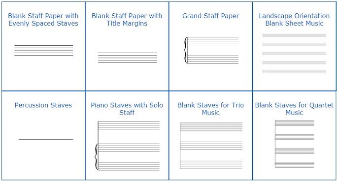 Modelos de pauta musical