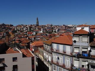 Una vista elevada de Oporto