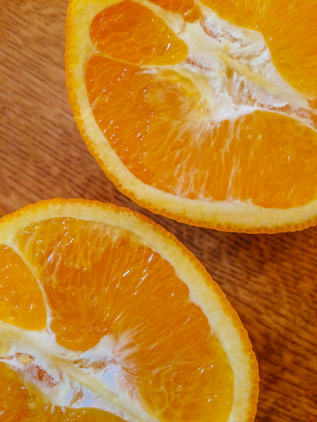 orange cut in half