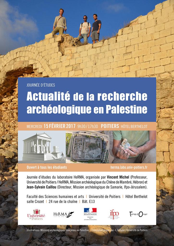Journée d'étude : Actualité de la recherche archéologique en Palestine (Poitiers, 15 février 2017)