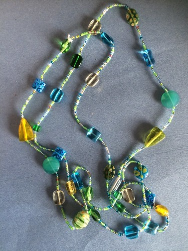 Beading a seaglass-inspired necklace