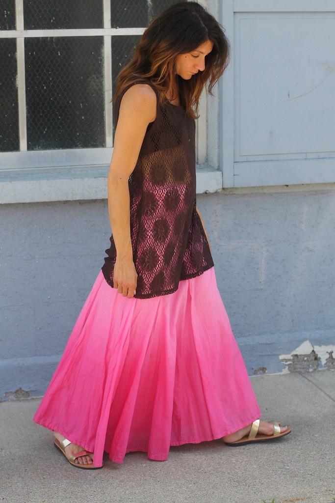 IMG_9306, ombre skirt, maxi skirt, pink maxi skirt, pink skirt, cotton maxi skirt