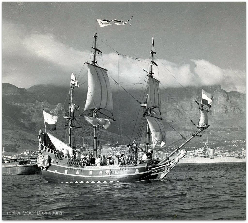 Voc Schip Quot Dromedaris Quot Jan Van Riebeeck Foto Door
