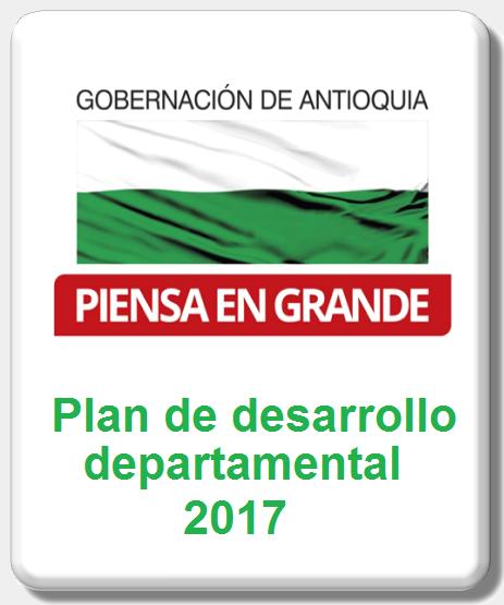Icono plan de desarrollo departamental Antioquia piensa en grande