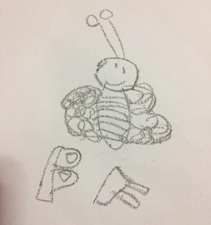 One my son's first drawings